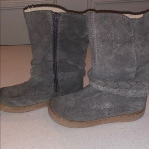 Livie and Luca gray boots with rope detailing